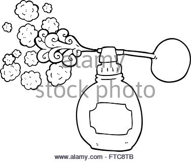 377x320 Freehand Drawn Cartoon Perfume Bottle Stock Vector Art