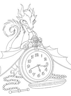 236x320 Cleaned Up Line Art On Perfume Dragon. Ready For The Canvas
