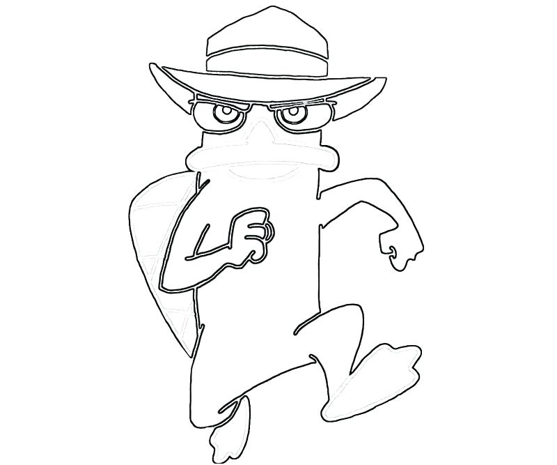 800x667 Perry The Platypus Coloring Pages Sheets On Lucky Leprechaun Run