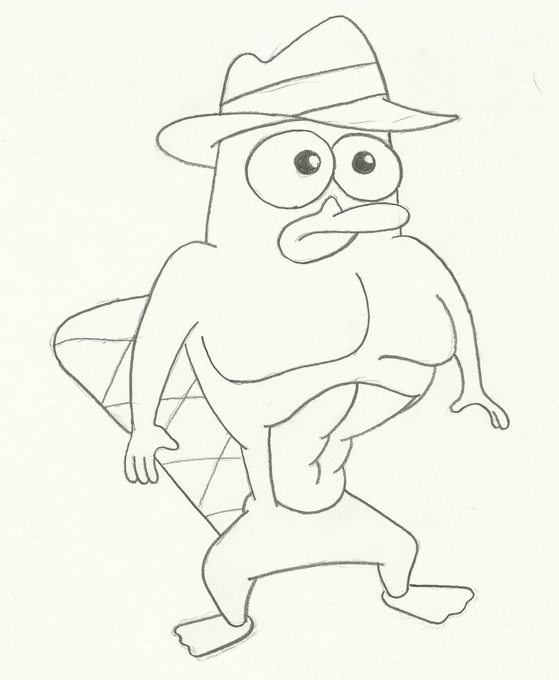811x986 Drawing Perry The Platypus