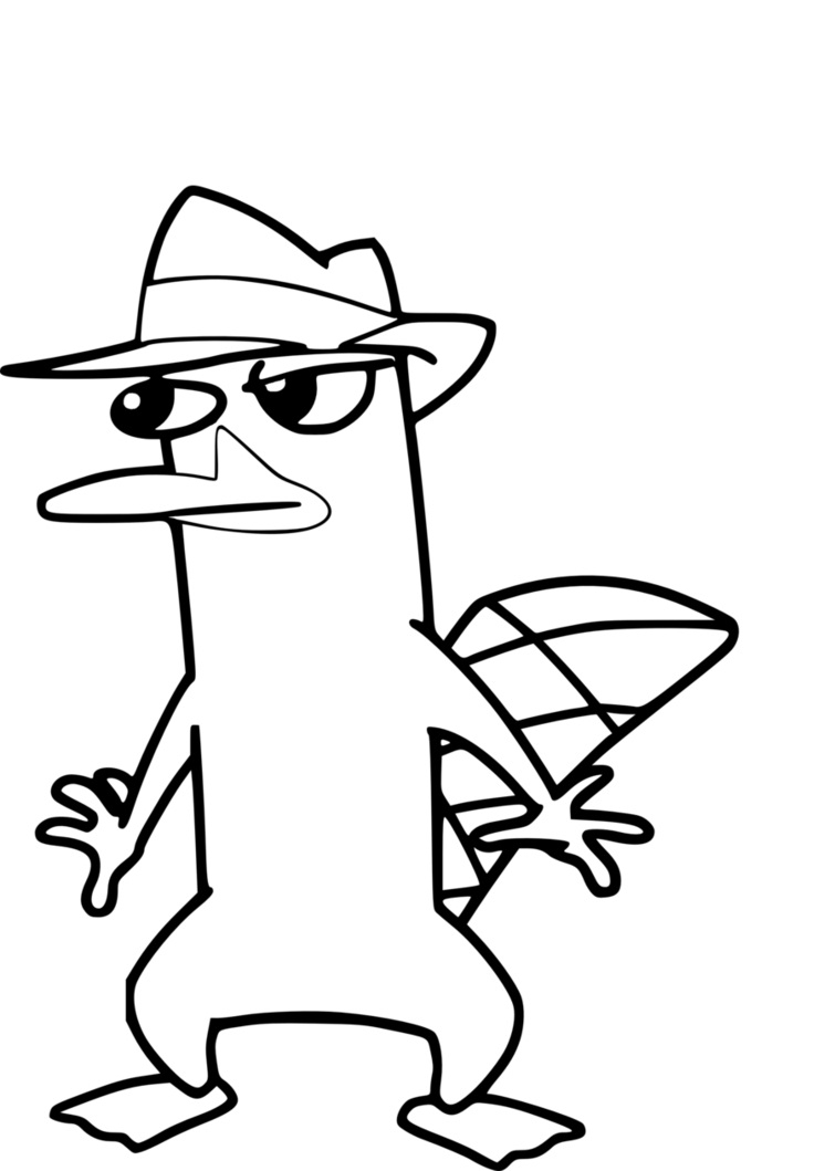 755x1059 Perry The Platypus Drawing Engaging Perry The Platypus Coloring