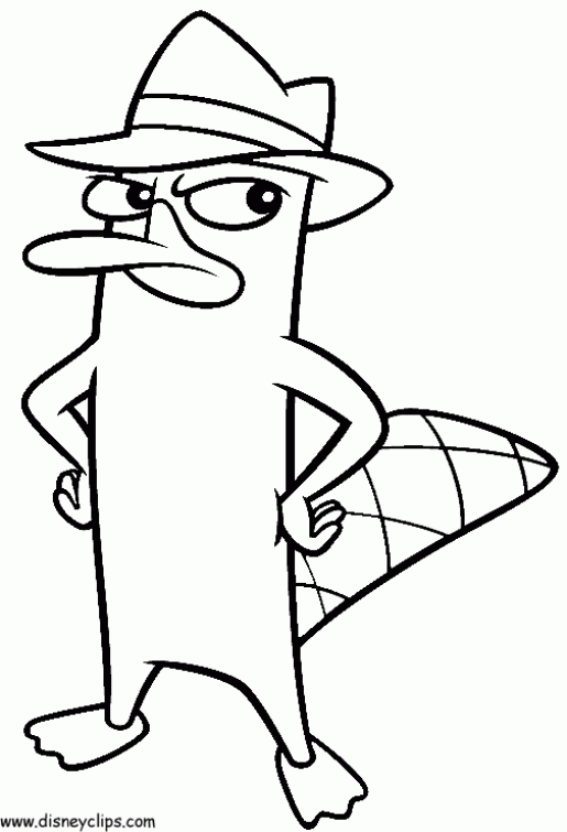 515x755 Disney Perry The Platypus In Online Phineas And Ferb Coloring