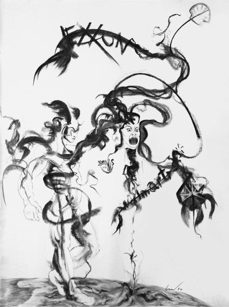 447x600 Perseus Slays Medusa Richard Claraval Contemporary Figurative
