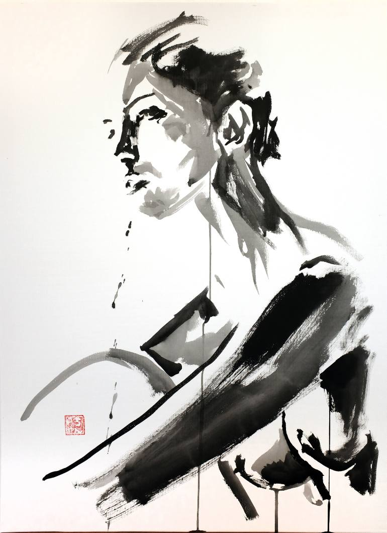 770x1058 Saatchi Art Crying Soul Painting By Pechane Sumie