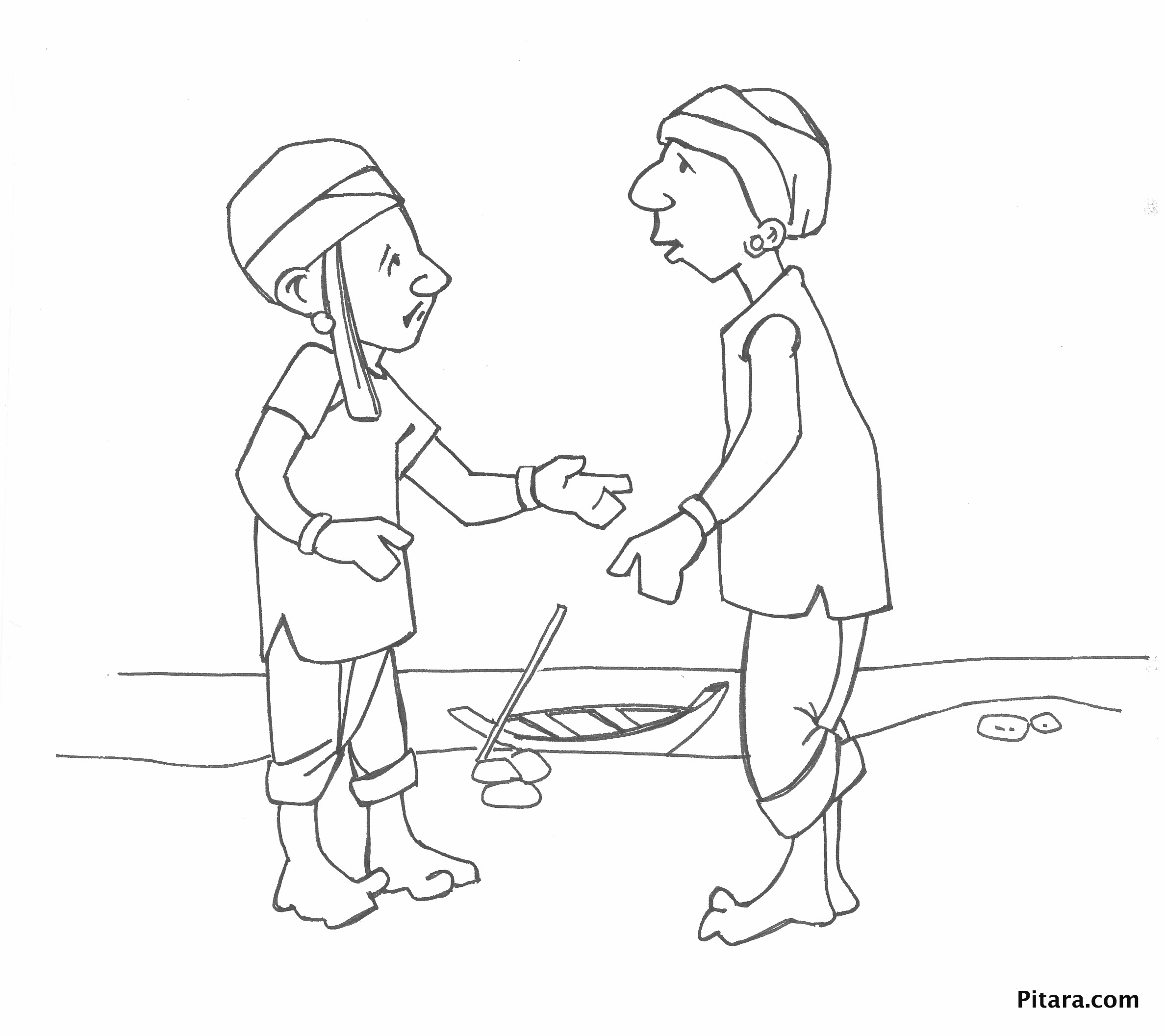 2376x2112 Indian Village People Coloring Pages Pitara Kids Network