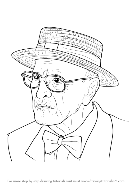 566x800 Learn How To Draw An Old Man (Other People) Step By Step Drawing