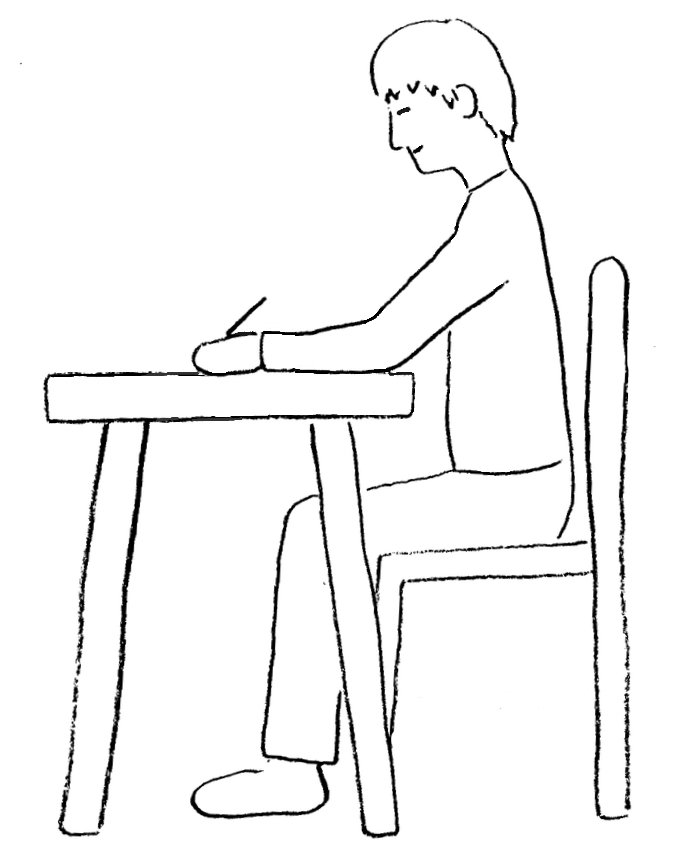 676x868 Posture While Drawing Or Writing