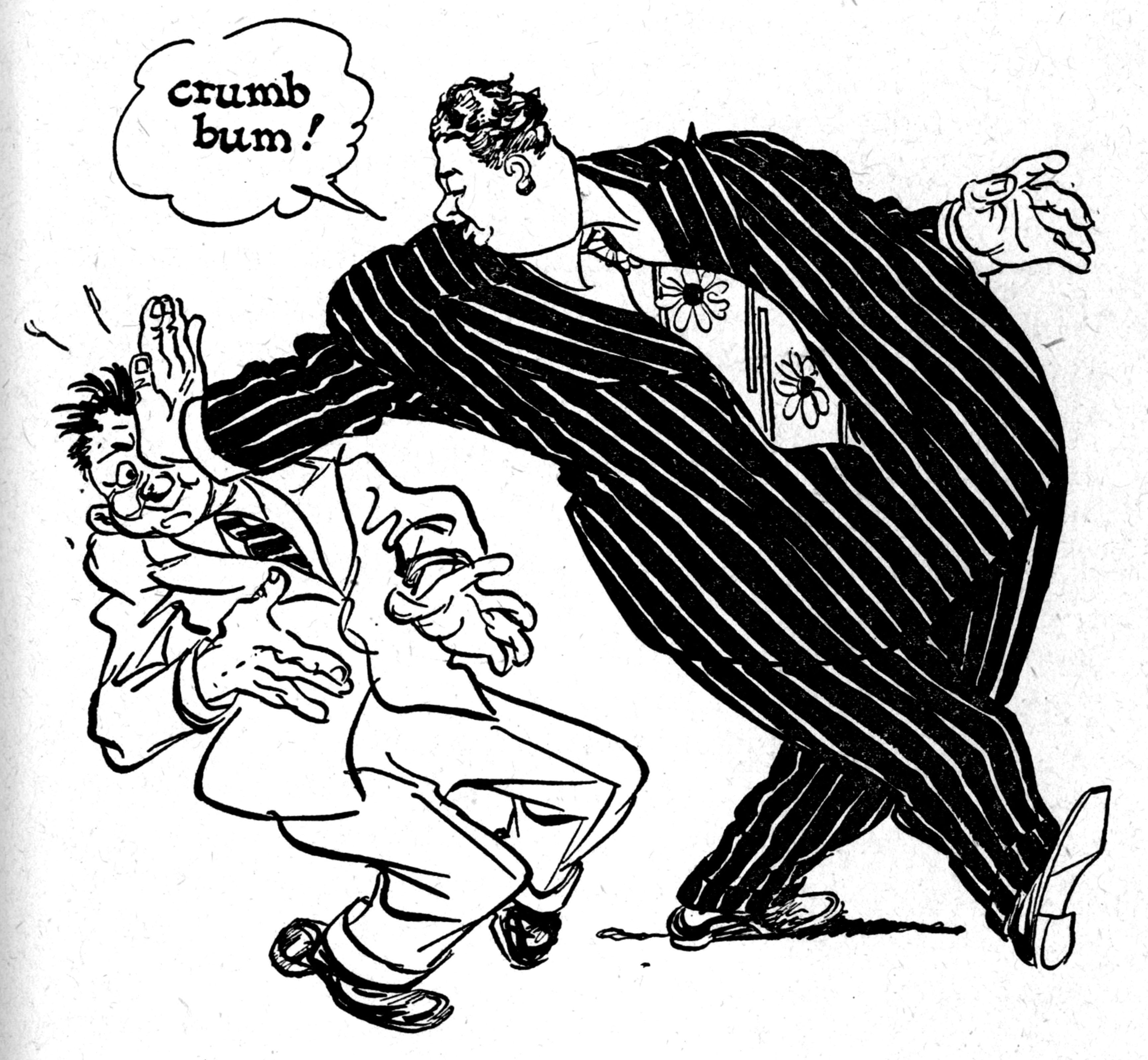 3458x3192 Drawn Caricature Guy