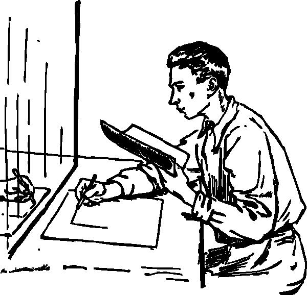600x578 Mirror Drawing Clip Art