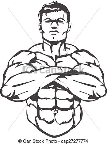 349x470 Muscle Man. This Is A Great Logoimage For A Boxing Gym Vectors