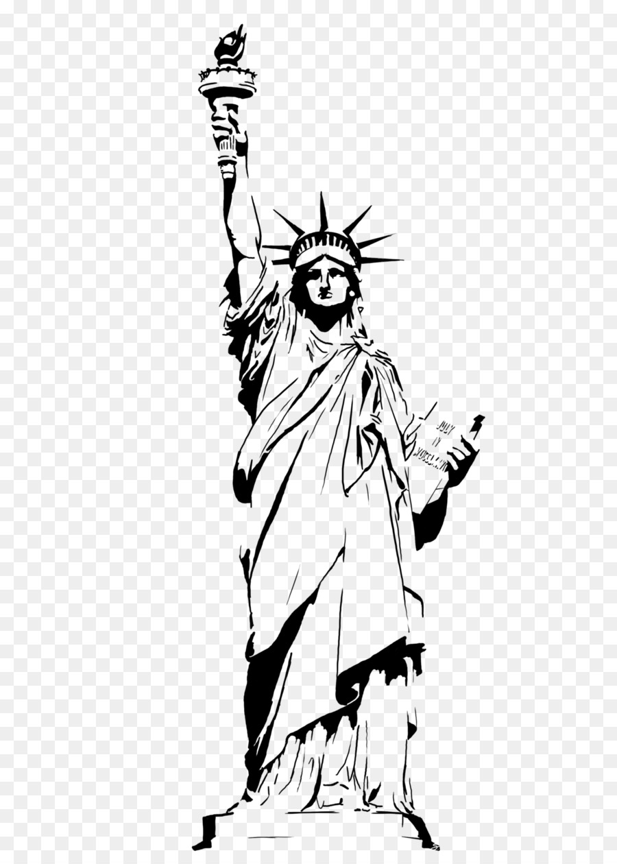 900x1260 Statue Of Liberty Drawing Clip Art