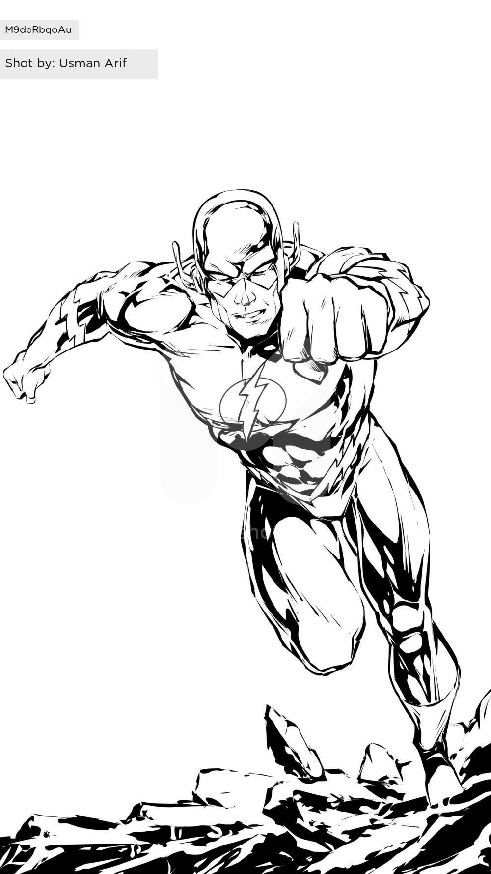 1000x1778 The Flash (Drawing) By Usman Arif