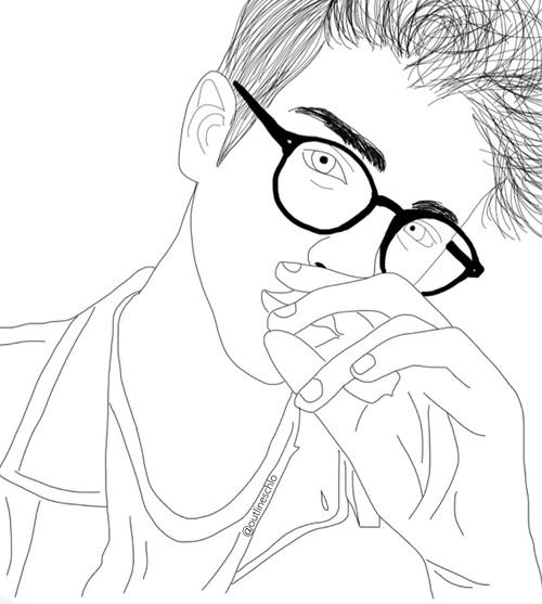500x557 Imagen De Boy, Outline, And Tumblr Drawing Ideas