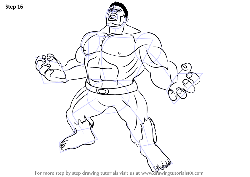 844x598 Learn How To Draw Angry Hulk (The Hulk) Step By Step Drawing