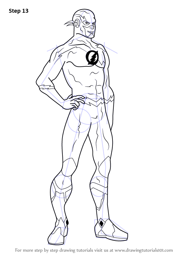 597x844 Learn How To Draw The Flash (The Flash) Step By Step Drawing