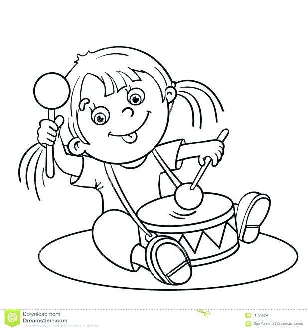 618x661 Person Outline Coloring Page Pin Drawn Templates Drawing For Kids