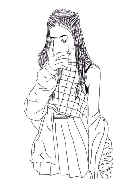 474x632 Pin By Iga Olczak On Szare Rysunki Drawings, Girl