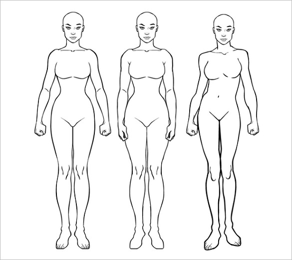 585x520 Body Outline Template Free Word, Excel, Pdf Format Download