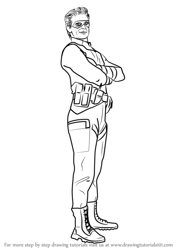 566x800 Learn How To Draw Captain Man From Henry Danger (Henry Danger
