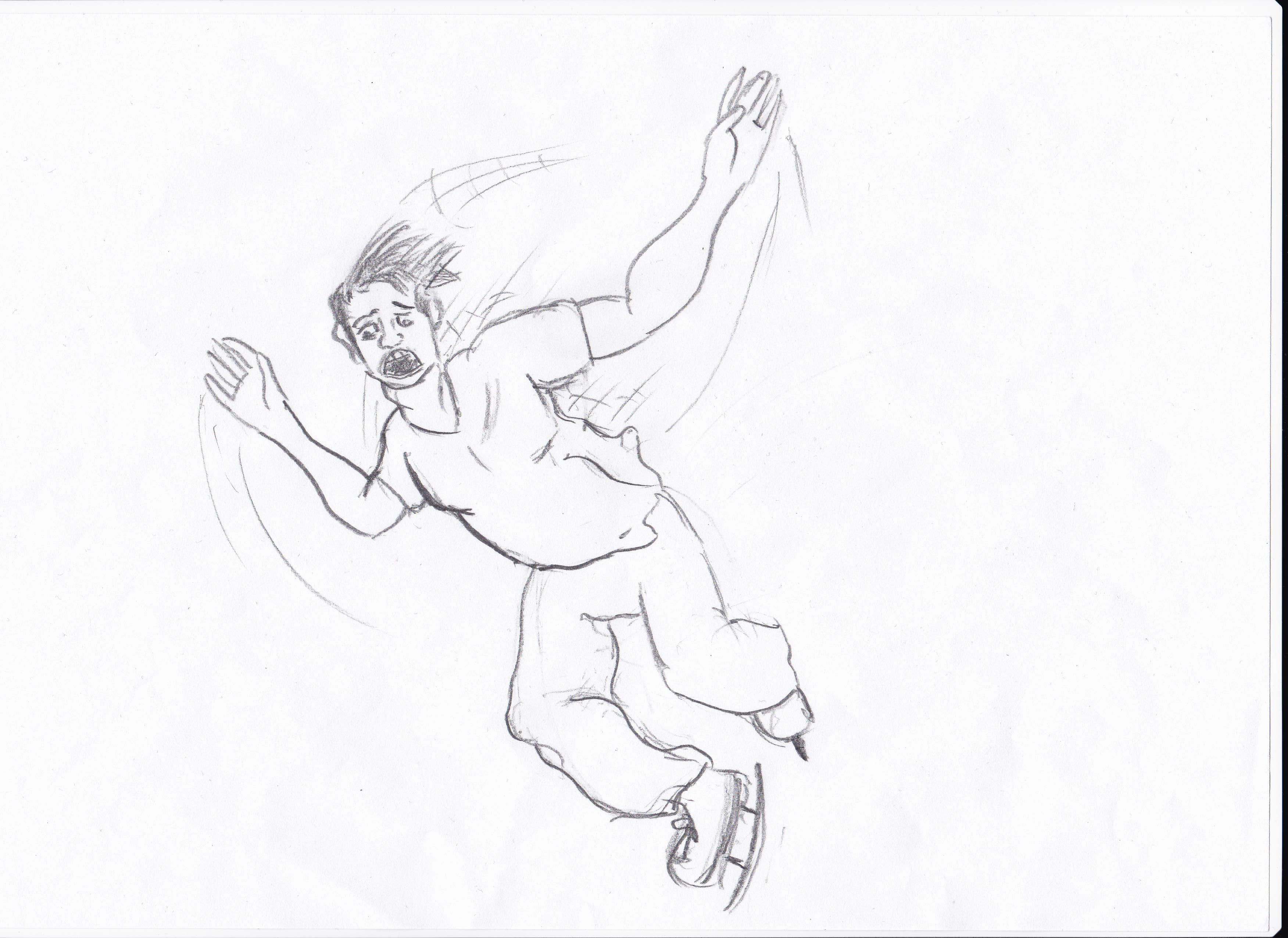 Person Falling Drawing