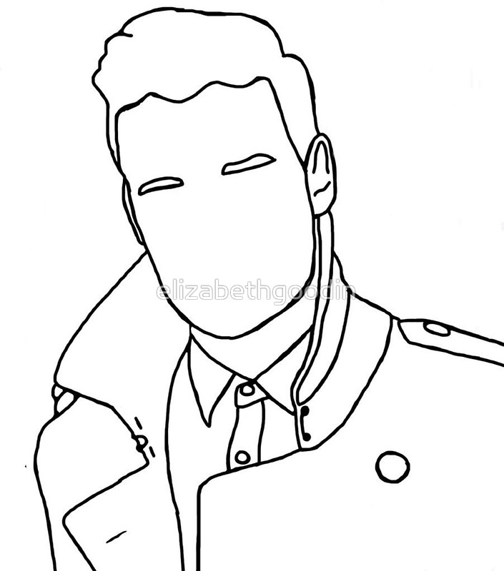 705x800 Liam Payne Outline Drawing Stickers By Elizabethgoodin Redbubble