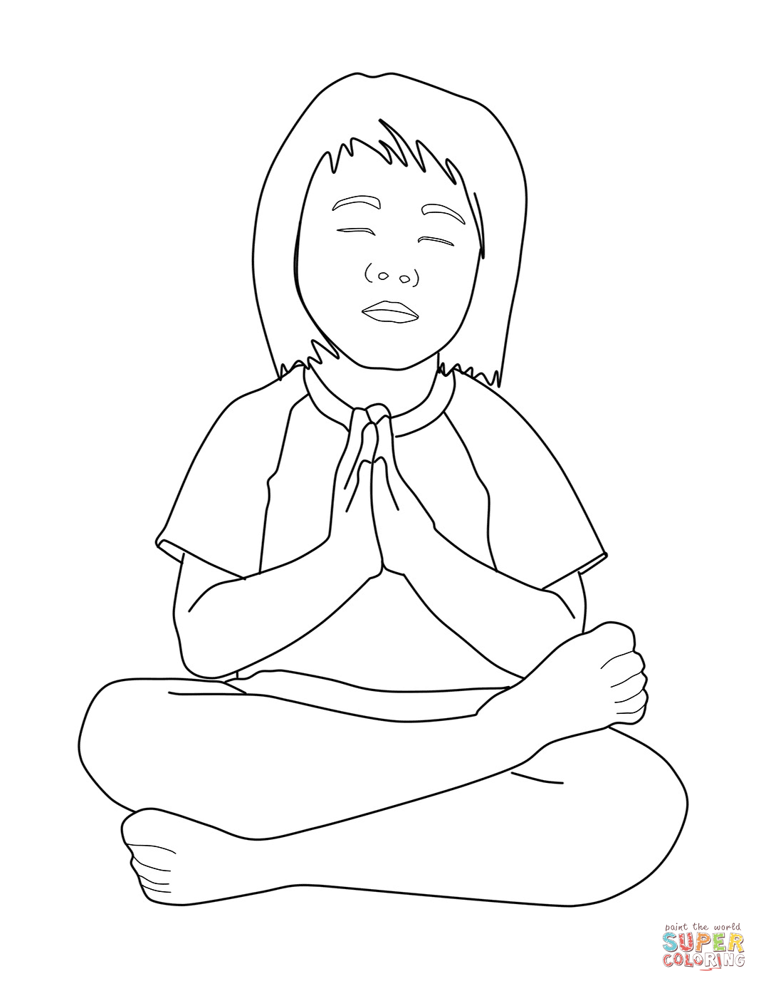 1069x1384 Praying Child Coloring Page Free Printable Coloring Pages