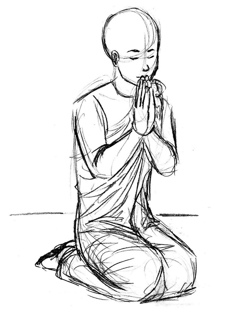 786x1017 Request Praying Monk By Ratopiangirl