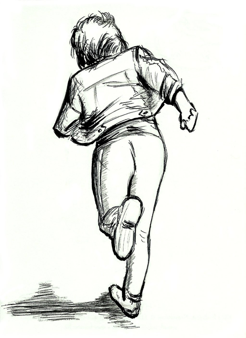 Person Running Drawing