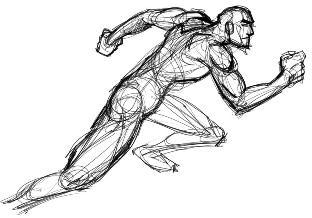 1091x761 Someone Running Drawing The Digital Sketchbook Of Me, Jonathan B