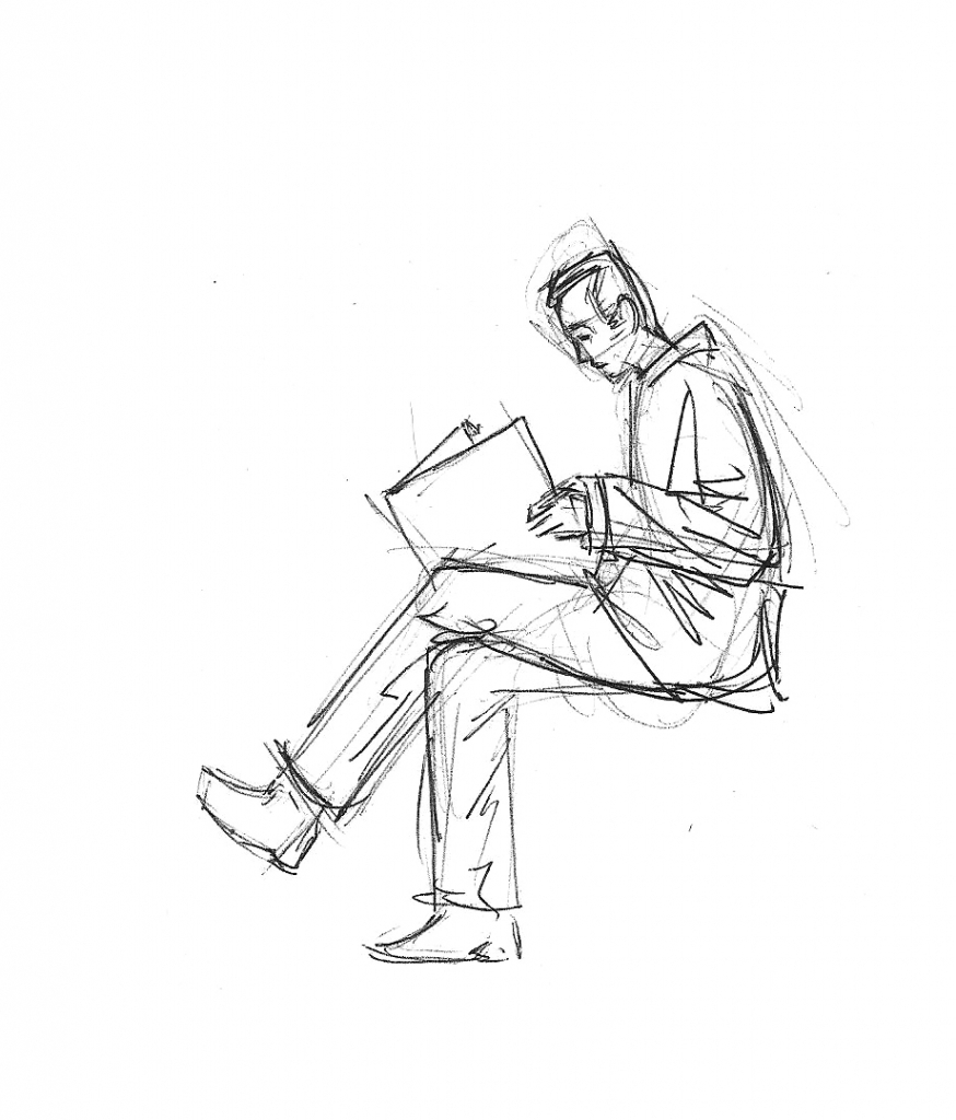 874x1024 Drawings Of People Sitting How To Draw A Person Sitting Down