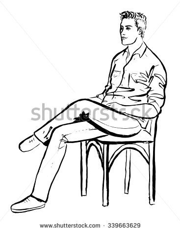 Person Sitting Drawing At GetDrawings.com | Free For ...