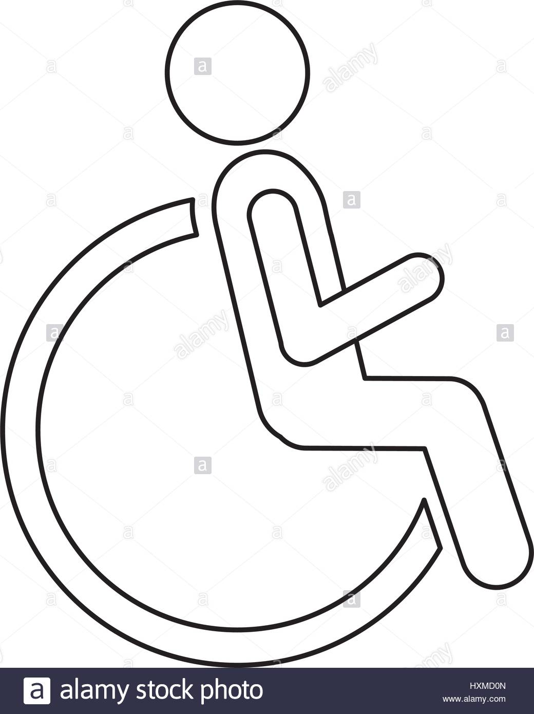 1040x1390 Figure Person Sitting In Wheelchair Icon Stock Vector Art