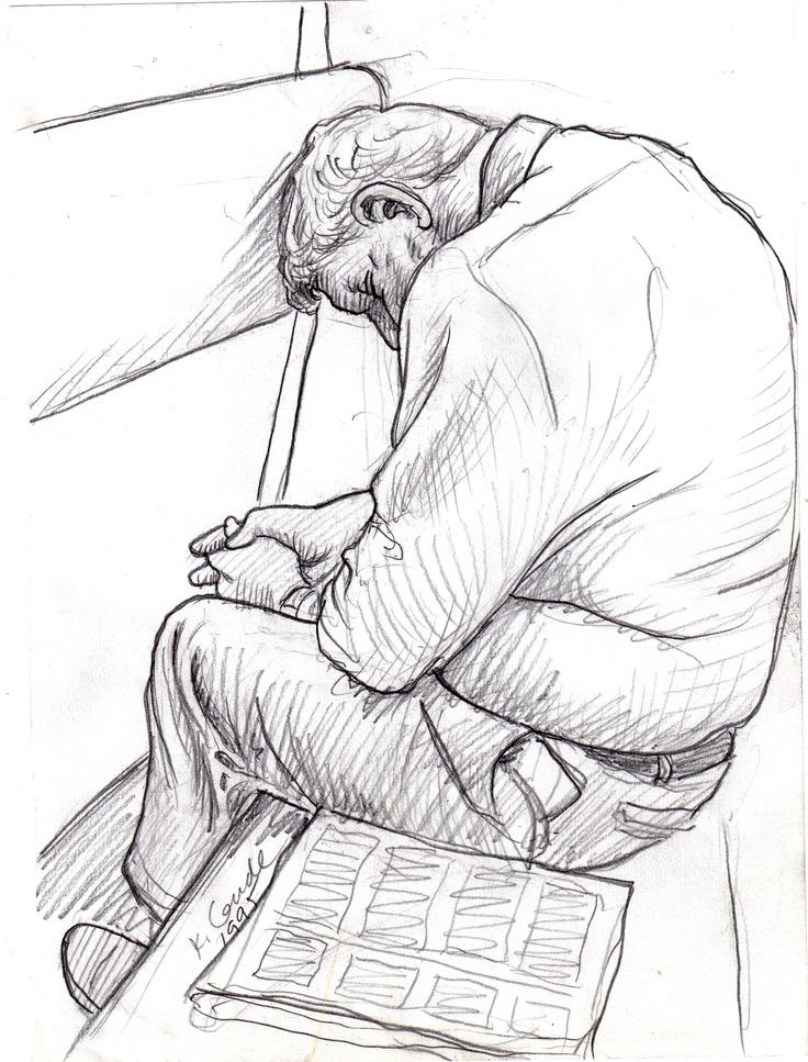 Person Sleeping Drawing