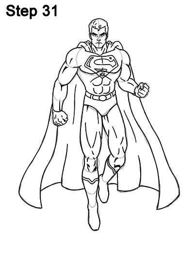 404x523 How To Draw Superman (Full Body)