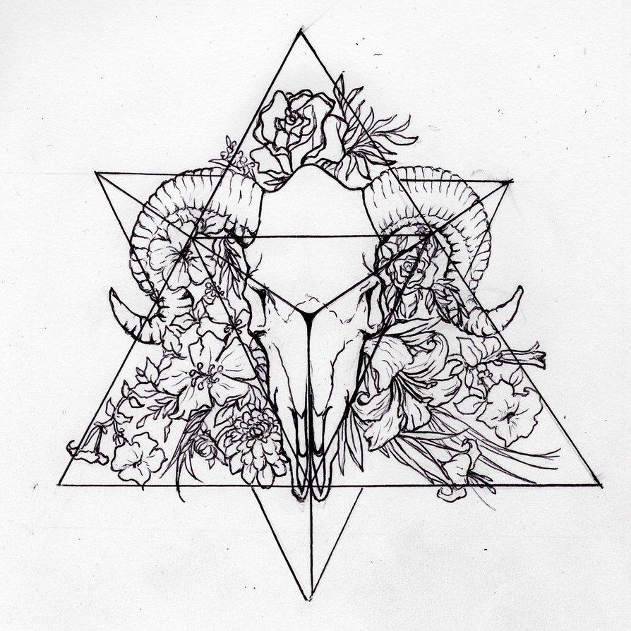 894x894 Tetrahedron (Personal Tattoo Design) By Morgan96k