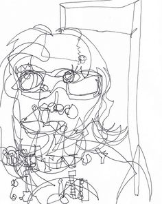 236x296 Claude Heath. His Blind Continuous Line Drawings Are Inspiring My