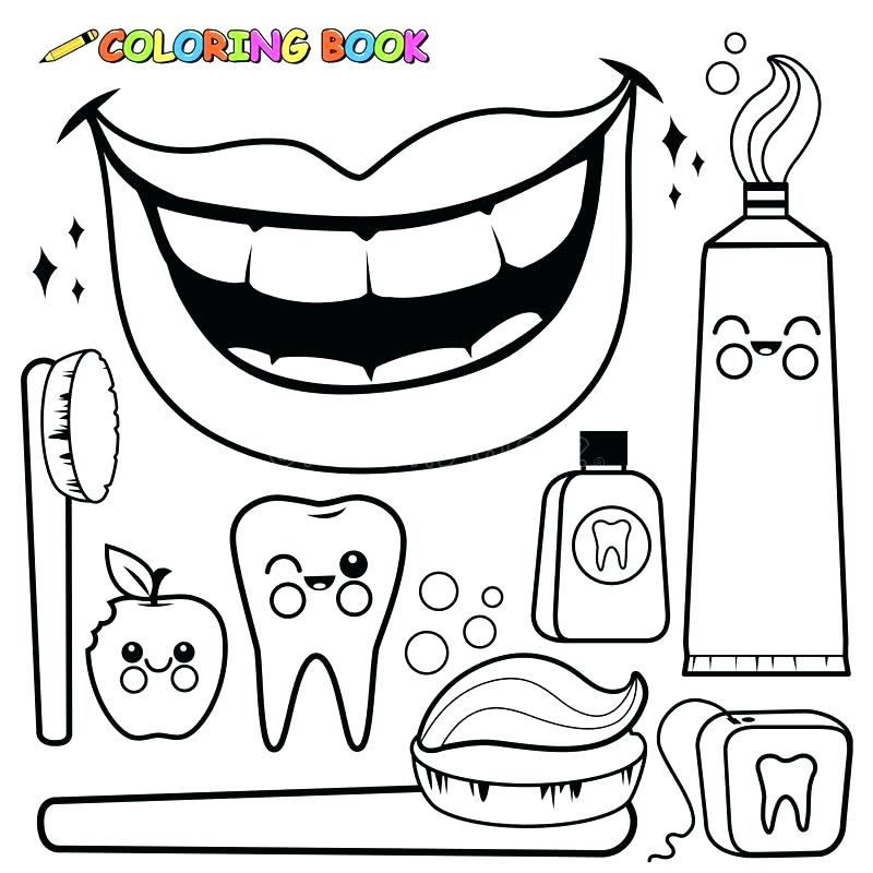 800x800 Hygiene Coloring Sheets Coloring Pages Dental Hygiene 6 Hand