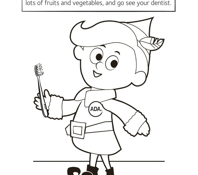 678x600 Dental Hygiene Coloring Pages Kids Coloring