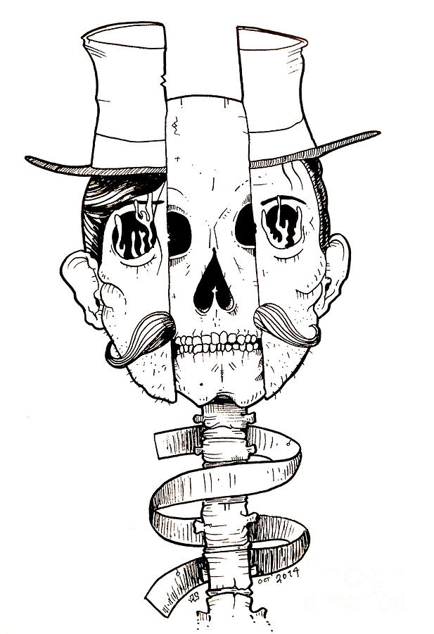 617x900 Split Personality Drawing By Joseph Nathan