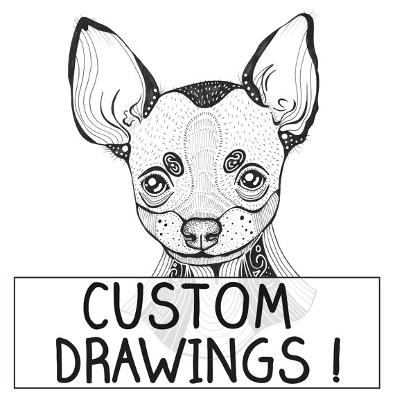 570x570 Custom Personalised Dog Illustration