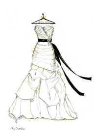 200x275 Dreamlines Weddin Dress Sketch And Personalized Hanger Httpwww