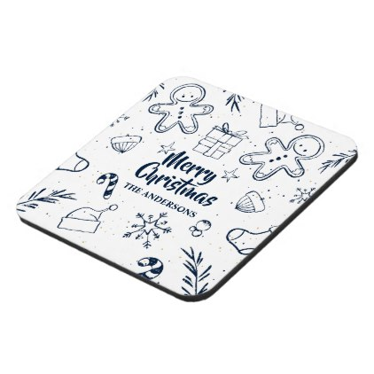 422x422 Personalized Lovely Christmas Sketch Coaster