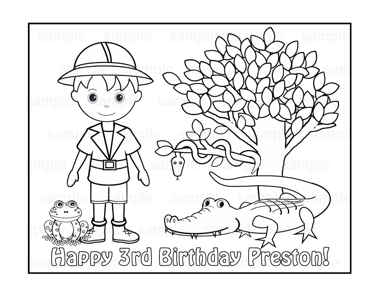 1500x1159 Personalized Printable Safari Jungle Girl Boy Birthday Party