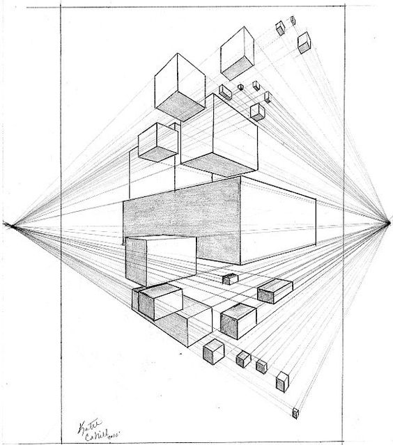 564x639 2 Point Perspective Drawing Lessons Drawings Katiecahillart