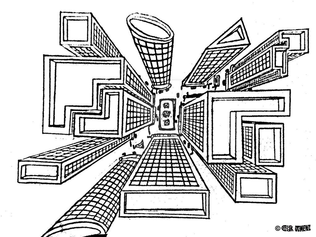 1024x768 Perspective Buildings By Jimenopolix