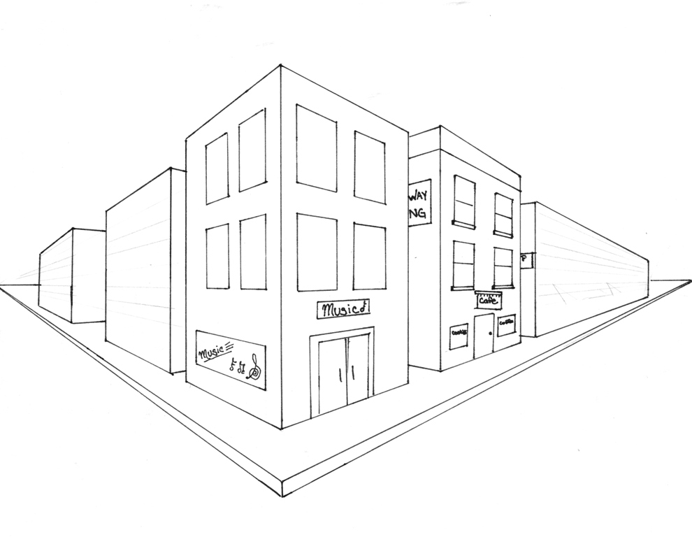 990x768 Pictures Easy Images Of Two Point Perspective,