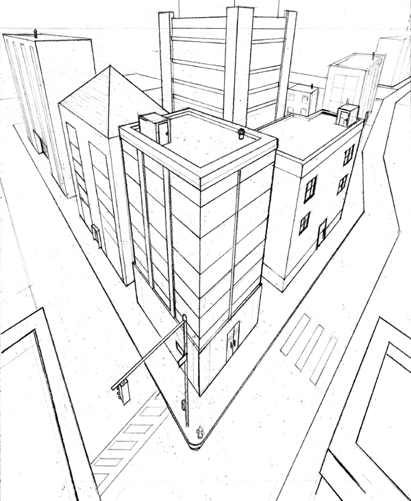 600x730 3 Point Perspective Exercise 2 By Beamer