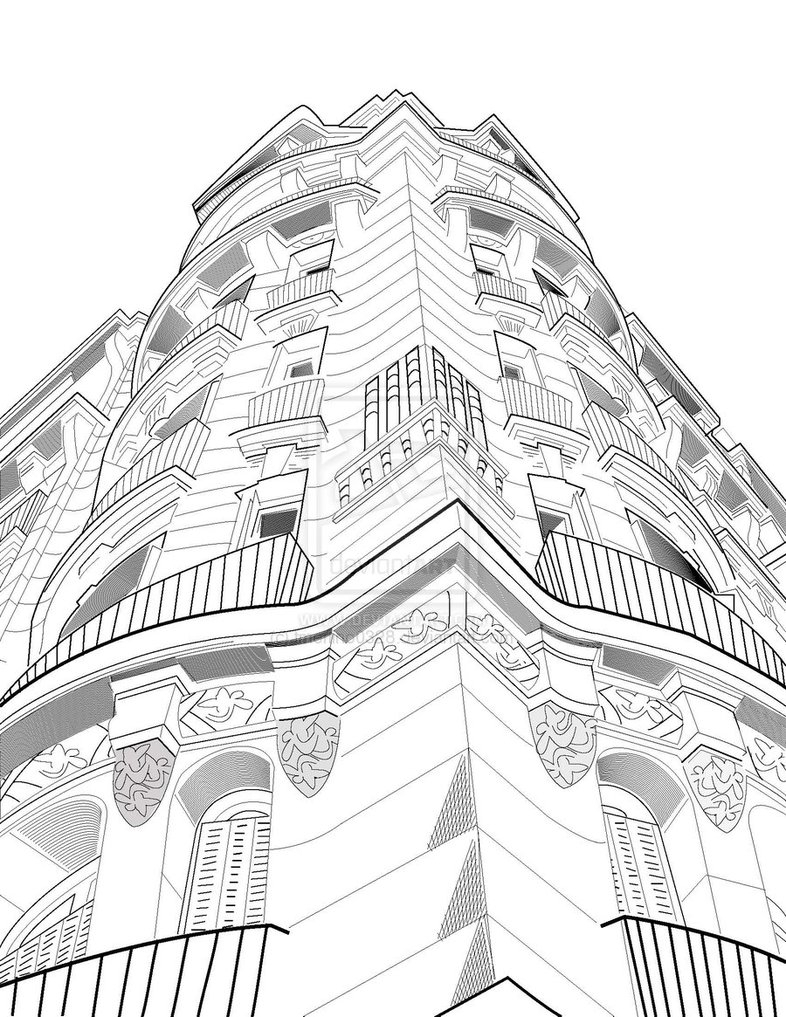 786x1017 Buildings Images Drawings Popular Perspective Drawings Of And Two