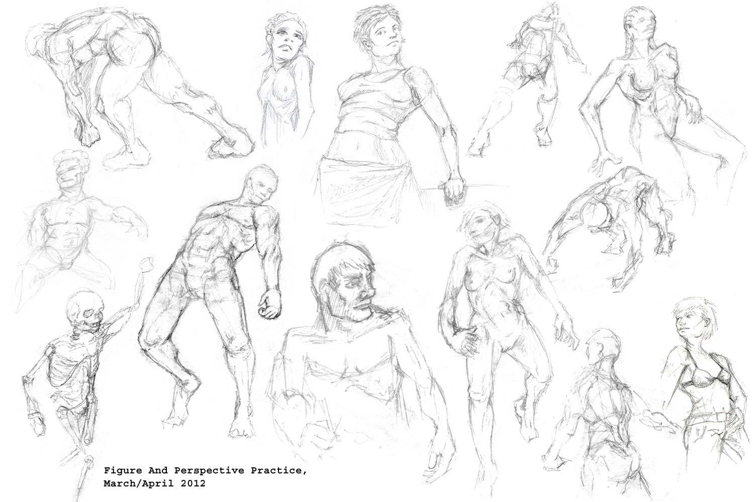 Perspective Figure Drawing at GetDrawings.com | Free for personal ...