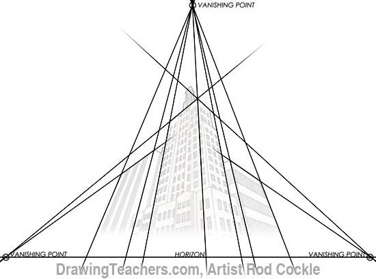 550x408 3 Point Perspective Drawing Lesson